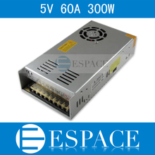 Best quality 5V 60A 300W Switching Power Supply Driver for LED Strip AC 100-240V Input to DC 5V free shipping
