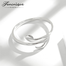 Fancnique 925 Sterling Silver Music Note Ring Adjustable Trendy Silver Jewelry(China)