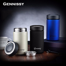 GENNISSY 4 Colors Vacuum Flasks Thermoses 400ml Stainless Steel Insulated Thermos Cup Coffee Mug Travel Drink Bottle