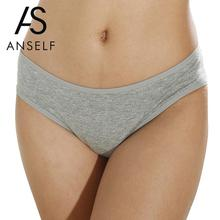 Buy ANSELF Sexy Hot Women Cotton Briefs Solid Color Low-Rise Period Panties Soft Comfortable Lingerie Girls Underpants Underwear