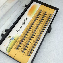 6/8/9/10/11/12/14mm 0.1 C Curl 3D Individual Mink False Eyelashes Extension Soft Black Fake False Eye Lashes Beauty Makeup P3