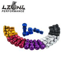 LZONE - 4 RAYS VOLK RACING FORGED ALUMINUM VALVE STEM CAPS WHEELS RIMS UNIVERSAL Blue Silver Black Gold Red Purple JR-WR11(China)