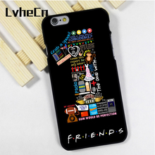LvheCn phone case cover fit for iPhone 4 4s 5 5s 5c SE 6 6s 7 8 plus X ipod touch 4 5 6 Friends TV Show NYC Collage Central Perk(China)