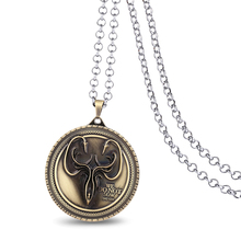 J Store Game of Thrones House Greyjoy Logo Metal Fashion Metal Round 5.5cm Size Pendant Necklaces for Fan Jewelry Accessory(China)