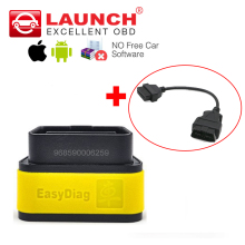 Launch X431 easy diag 2.0 For Android/iOS Auto OBD2 Code Reader Easydiag + OBDII 16pin extension cable better than M-diag ELM327