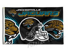Jacksonville Jaguars New Wordmark Flag 3ft x 5ft Polyester NFL Jacksonville Jaguars Banner Size No.4 150* 90cm Custom flag(China)