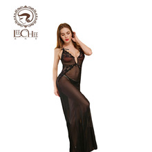Buy Leechee Q765 Women sexy lingerie robe lace dress lenceria sex perspective Peignoir erotic underwear porn costumes sexo nightwear