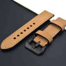 luxury High quality Watchband 20mm 22mm 24mm 26mm fashion Watch Strap Band Stainless steel buckle for Omega Tissot Seiko Casio(China)