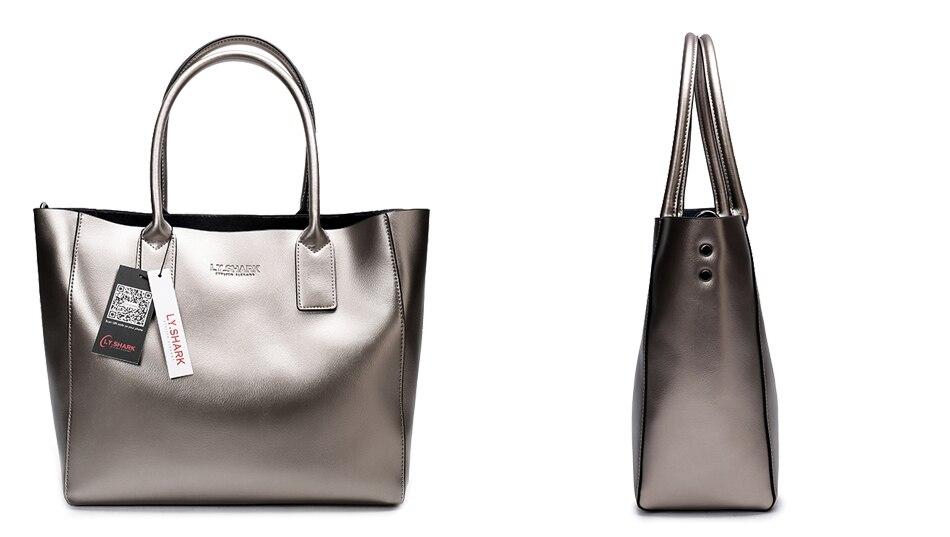 LY.SHARK female bag ladies genuine leather women bag shoulder messenger bag women handbag big famous brand designer fashion tote 20