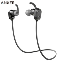 Anker SoundBuds In-Ear Sport Earbuds Magnetic Wireless Bluetooth Headphones with 8-Hour Playtime  CVC 6.0 Noise Cancellation IPX