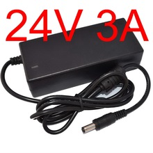 1pcs Adequate power 24V3A AC 100V-240V Converter Adapter DC 24V 3A 3000mA Power Supply DC 5.5mm x 2.5mm Charger(China)