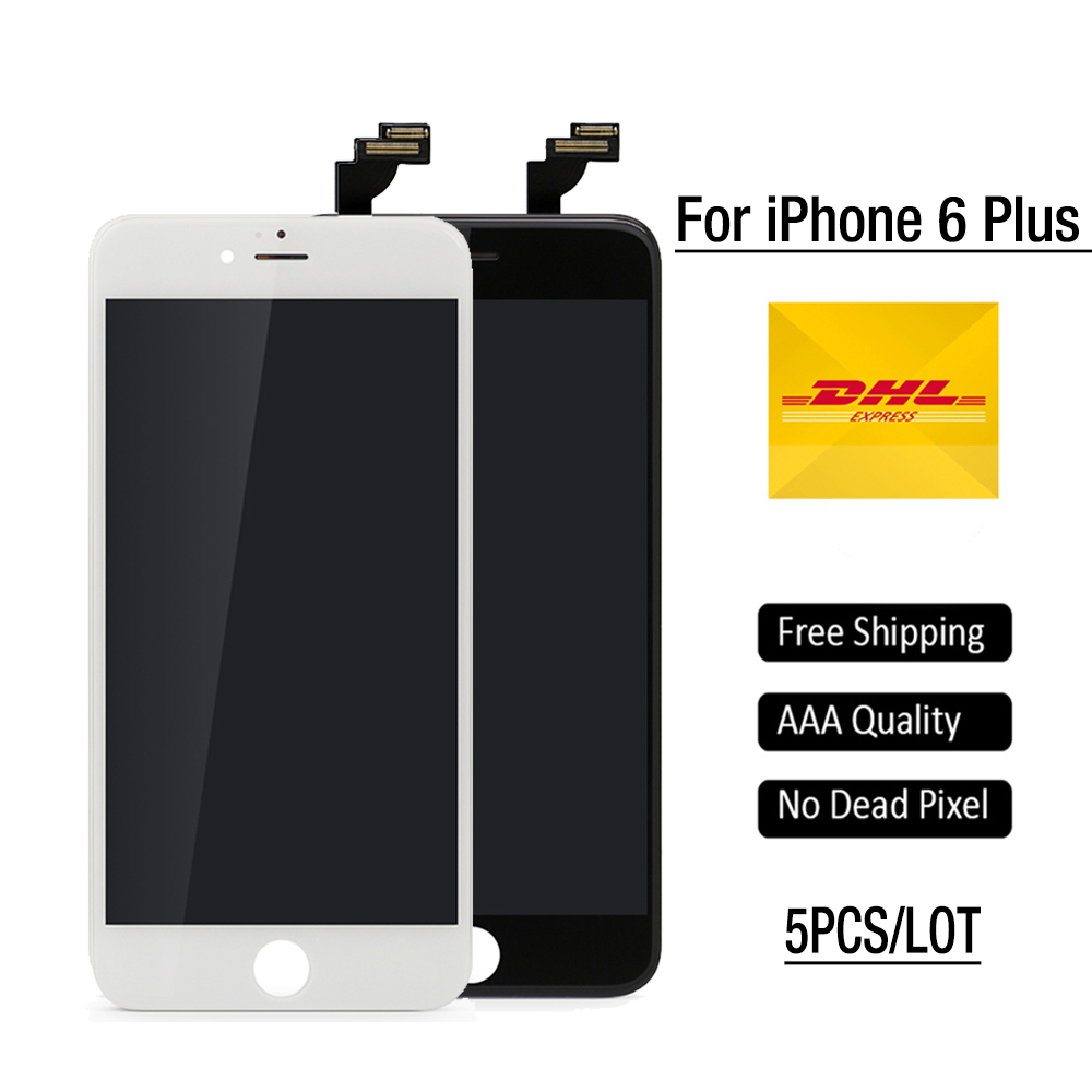 5PCS/Lot For apple iPhone 6 Plus LCD Touch Screen Replacement 5.5 inch Display Grade AAA Quality Digitizer Assembly free DHL<br><br>Aliexpress