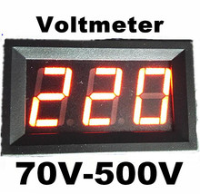 100pcs by DHL Fedex  0.56 inch 3 bits AC 70V-500V voltage Instruments Red LCD display Digital Voltmeter Panel Meter