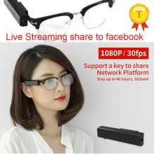 2018 New Smart Glasses with Wireless APP Wifi 1080P Full HD Security Camera Video Recorder Glasses for Police Journalist Use(China)