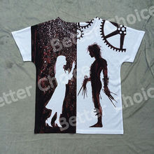 Track Ship + New Vintage Retro Rock&Roll Punk T-shirt Top Tee Pure Love Lover Robot Edward Scissorhands Romantic 0031(Hong Kong)