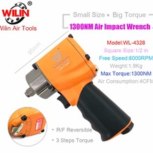 Pneumatic-Tools Air-Impact-Wrench 1300NM Twim-Hammer Composite Torque Mini Industrial-Wilin