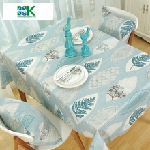 2016 Summer new Rustic style tree leave design Cotton Linen Table Cloth for home Dining Table Cover Towel Accept Customized , fr