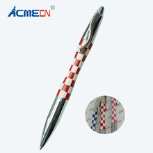 ACMECN Mini Branded Pen Square Pattern Design Ballpoint Pen Colorful Laser Logo Pens Fashion Cute Ball Pen Gifts for Lady