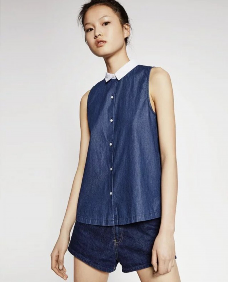 Sleeveless Denim Shirt for Women Promotion-Shop for Promotional ...