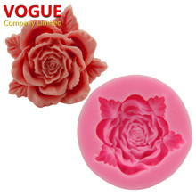 DIY 3D Rose Flower Silicone Mold Dining Bar Fondant Cake Decorating Tool Mold Pastry Baking Tools N1970