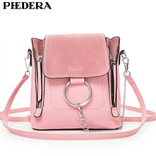 PHEDERA Brand Summer Fashion Female Shoulder Bag High Quality PU Leather Chains Women Messenger Bags Pink Girl Crossbody Bags