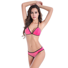 Women Vocation Bathing Suits Hot Lady's Halter Wire Free Set Summer Sexy Beach Swimwear Swimsuits Padded Bra Briefs Set