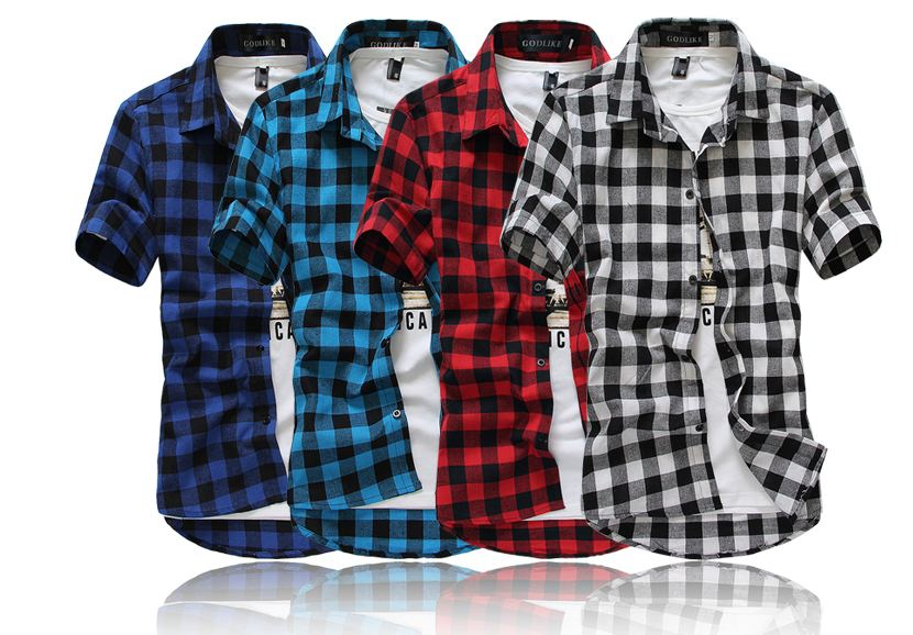 Short Sleeve Flannel Shirt Promotion-Shop for Promotional Short ...