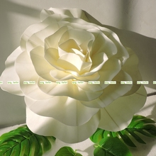 Large 40cm Foam 2pcs Artificial Rose Display Flower Wedding Home Church Decor White Cream