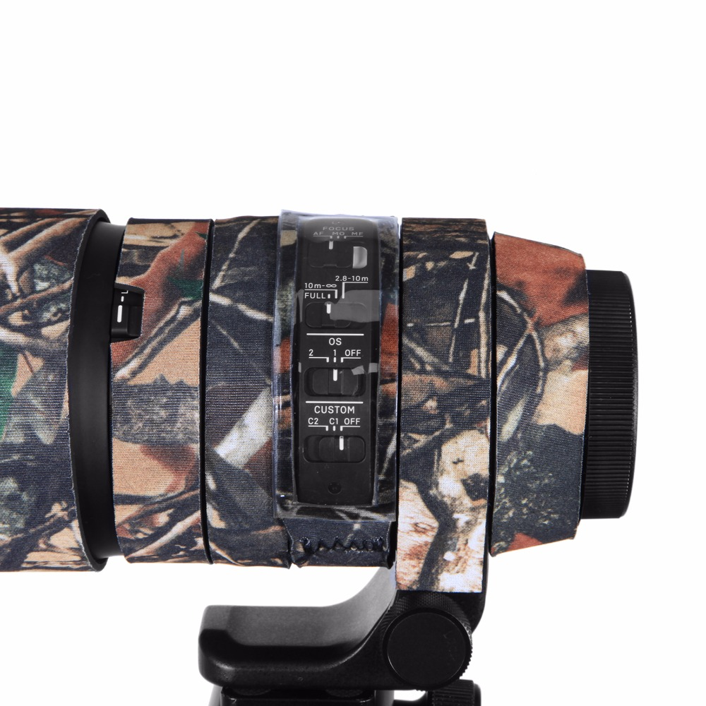 Contemporary Rubber Camouflage Neoprene Lens Coat Waterproof Lens Protective Coat Cover Camo Case For Sigma 150-600mm C version (3)