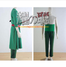 One Piece Cosplay Roronoa Zoro Cosplay Costume Two years later Anime Cosplay - Green Any Size(Free Shipping)