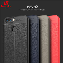 Buy Huawei Nova 2 Case Luxury Soft Shockproof Anti-Knock Leather Grained TPU Protective Back Cover Case Huawei Nova2 64GB for $3.00 in AliExpress store