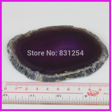 1pc/lot China Retail Natural Purple Female Round Slice Quartz Crystal Gem Stone Fashion Jewelry For Cup Mat Household Appliance