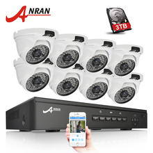 ANRAN Plug And Play 8CH 48V POE NVR CCTV System Onvif P2P 1080P 2.0MP HD POE Waterproof IP Security Camera System(China)