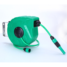 Mayitr 10M Retractable Auto Rewind Garden Water Hose Reel Anti Kink Wall Mount Garden Tool Set