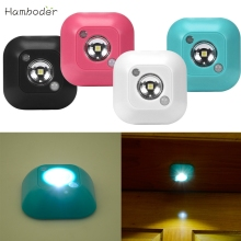 DC Shining Hot Selling Drop Shipping  Mini LED Wireless Night Light Motion Sensor Lights  Wall Emergency Night Lamp