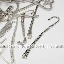 Tibetan Style Bookmarks,  Antique Silver,  Mixed Shape,  about 13~30mm wide,  80~120mm long,  2~3mm thick,  hole: 1~3mm