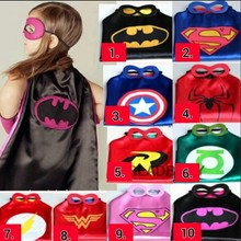 1cape+1mask christmas kids superhero capes superman batman spiderman batgirl  baby costume cosplay birthday