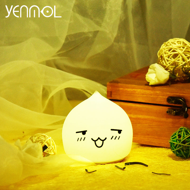 YENMOL LED Baby Night Lights for Children Lamps Bedroom Light Touch Sensor Kids Colorful Water Drop Projector Nightlights Lamp(China (Mainland))