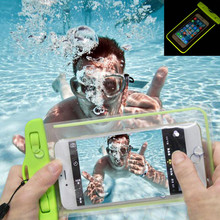 Waterproof Phone Case For iphone 5 5S SE 6 6s 7 Plus Samsung Galaxy S3 S4 S5 S6 S7 edge Huawei P8 P9 lite Case With Luminous
