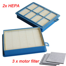 2x H12 H13 Hepa Filter + 3pcs Motor Filters Replacements for Philips Electrolux Vacuum Cleaner Parts High Quality