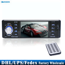 DHL/Fedex 5PCS 4.1 Inch TFT HD LED Screen FM Radios 12V/24V MP3 MP4 MP5 Car Audio With Remote Controller AUX/USB Port(China)