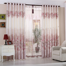 New Warm window curtain for living room bed room blackout curtains floral sheer curtains window screening Home Decor