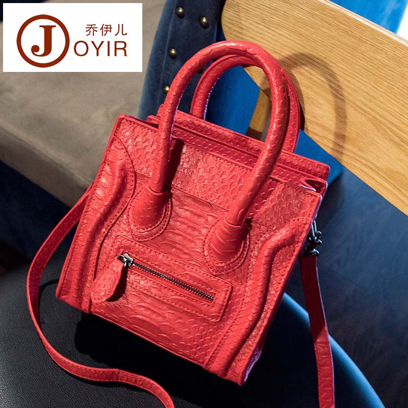 New Famous Designer Brand Luxury Women PU Handbags Fashion Smile Face Tote Quality Trapeze Smiley Clutches Bolsa Feminina<br>