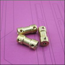 2016 Design 3x3mm Copper rigid coupling gear shaft motor shaft brass coupler model airplane connector 3mm to 3mm solid adapter