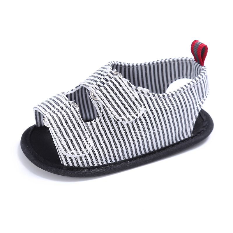Summer 0-1 year old baby  striped sandals baby soft bottom non-slip baby shoes  L126