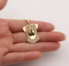 1pcs Rottweiler Necklace 3D Cut Out Puppy Dog Lover Pendant Memorial Necklaces & Pendants Christmas Gift 2021 Lead Free