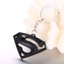 JM 3 colors Batman & Superman Logo Keychain Car Moives Series The Avengers Key Chain Ring Holder for Fans Jewelry Accessories