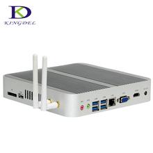 New 6th Generation Fanless Mini pc Core i5 6260U i5 6200U Barebone Windows 10 Mini Desktop PC Nettop 4K VGA HDMI HTPC 300M WiFi