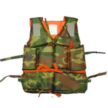 300g Adult Foam Flotation Swimming Life Jacket Vest With Whistle Boating Swimming Safety Life Jacket,Camouflage Outdoor