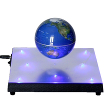 Magnetic Levitation Automatic Rotation Floating Globe World Map with Display Base Light for Home Decoration Ornaments(China)